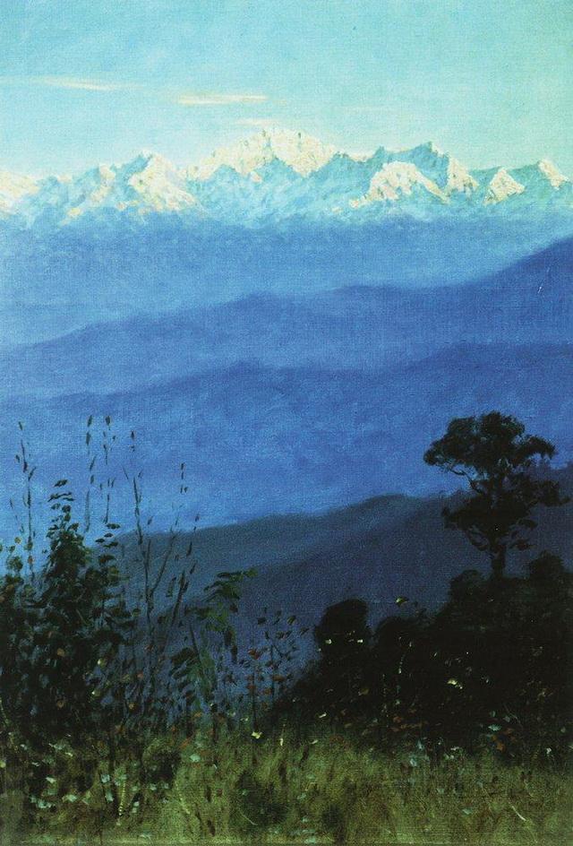 Гималаи вечером, 1875 г