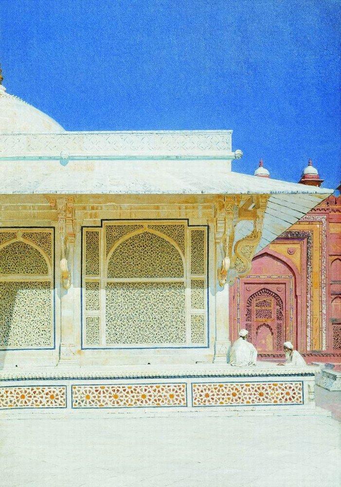 Гробница Шейха Селима Чешти в Фатехпур Сикри, 1875