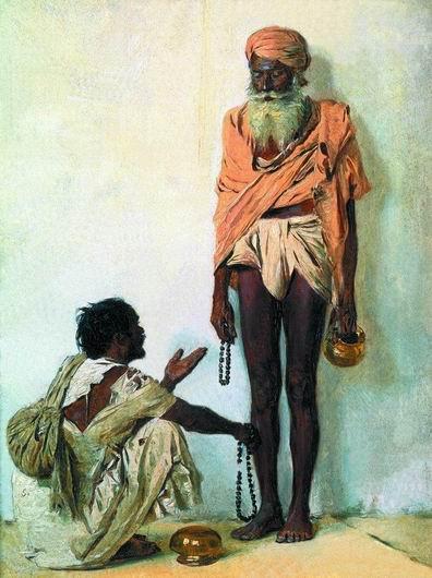 Индия. Факиры в Варанаси