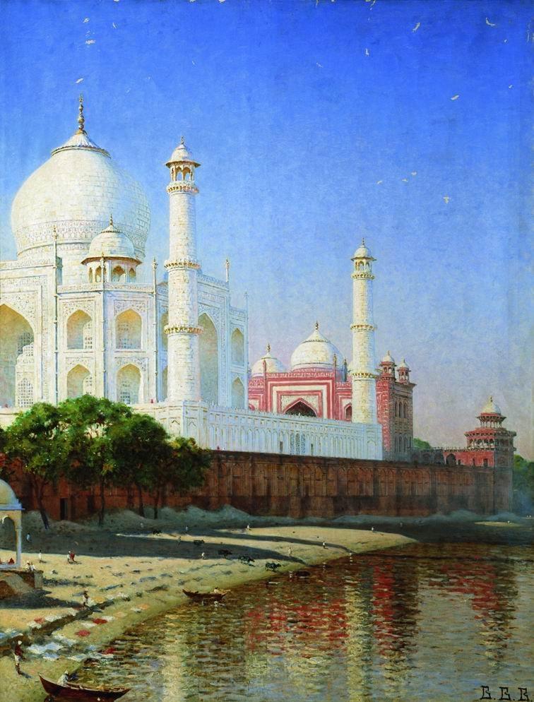 Мавзолей Тадж Махал близ Агры. Индия, 1875 г.