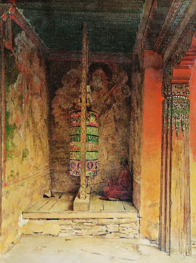 Непал. Молитвенный барабан, 1875 г