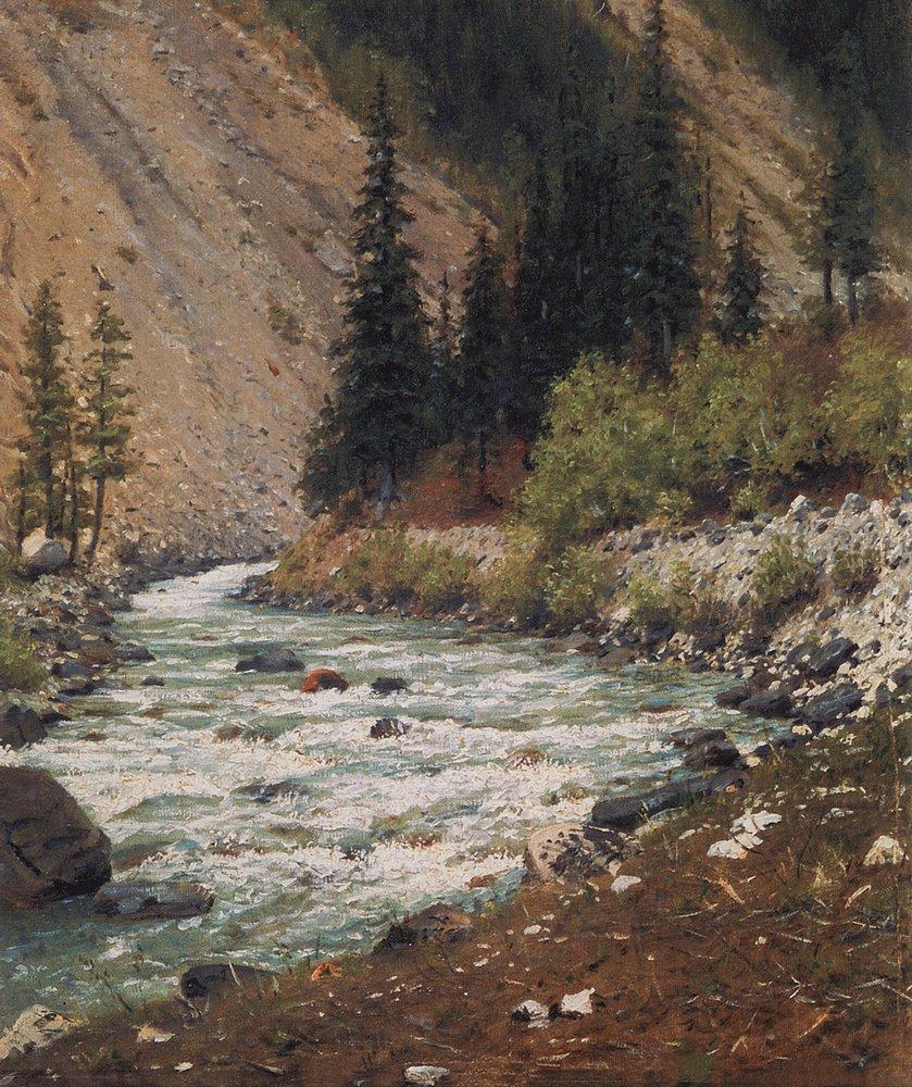 Горный ручей в Кашмире, 1876