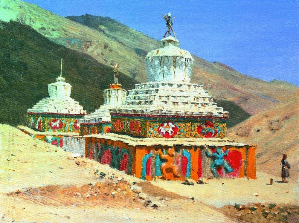 Посмертные памятники в Ладакхе