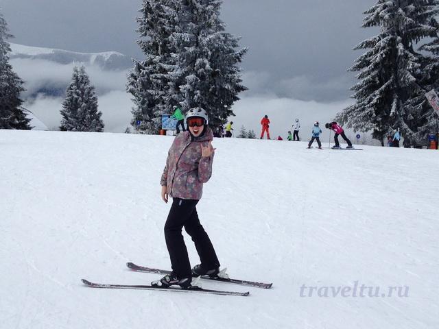 Счастливый лыжник