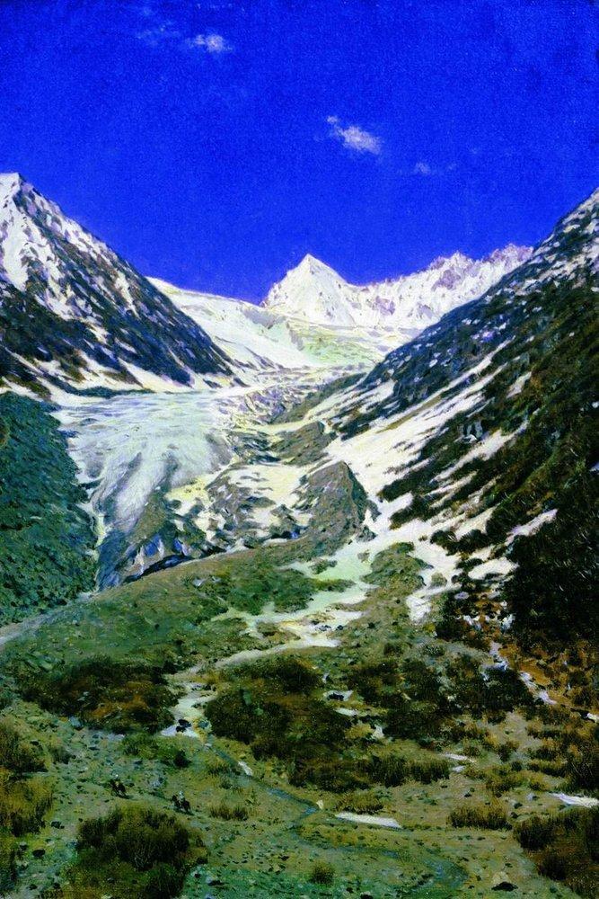 Северная Индия. Ледник по дороге из Кашмира в Ладакх, 1877
