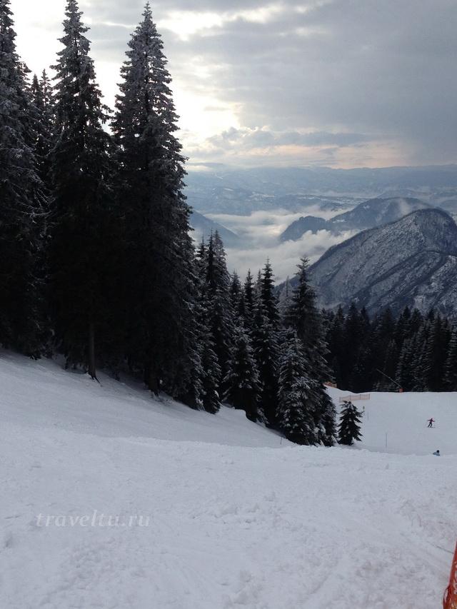 Вид с трассы на горы