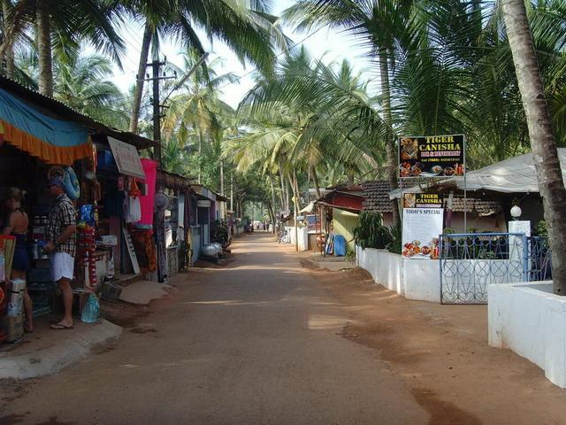 главная улица в Гоа