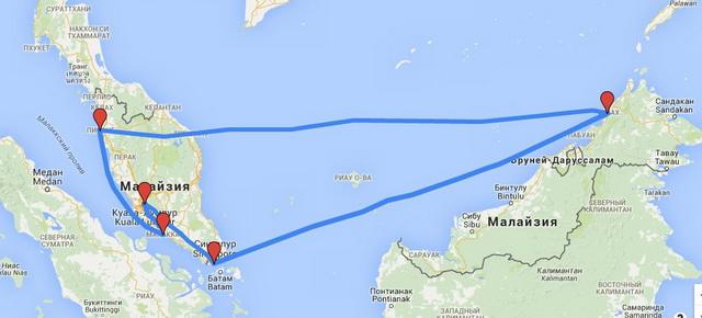 Готовый маршрут по Малайзии и Сингапур