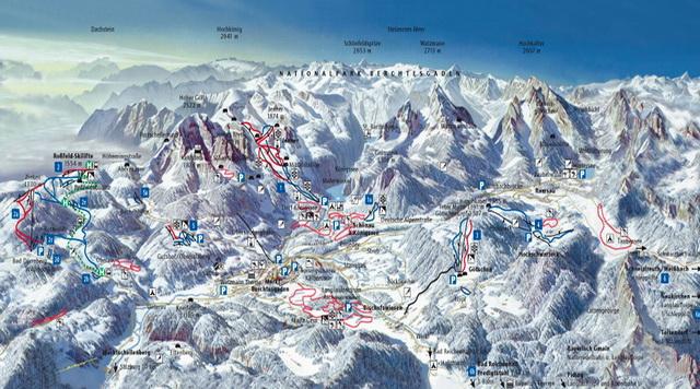 Схема трасс Берхтесгадена