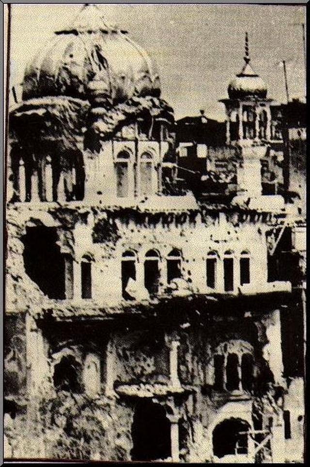 Фотография их хроники 1984 года. Разрушения в храме