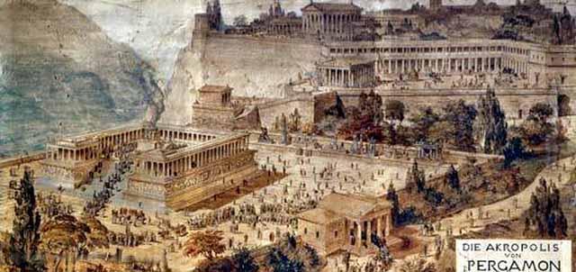 Так когда-то выглядел Акрополь Пергамона