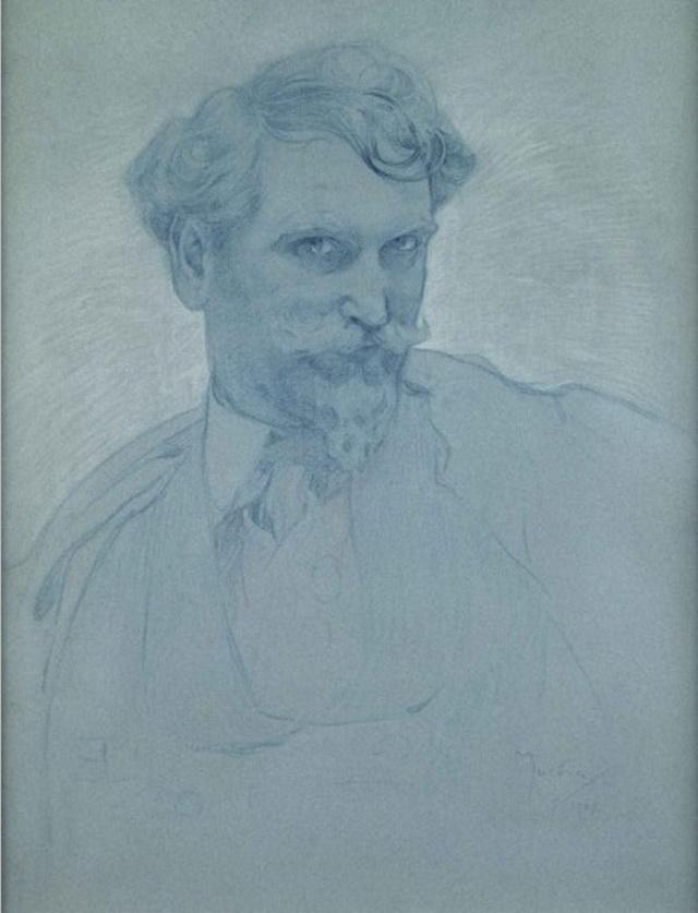 А. Муха Автопортрет 1907 год
