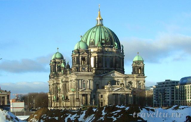 Берлинский кафедральный собор (Berliner Dom) зимой