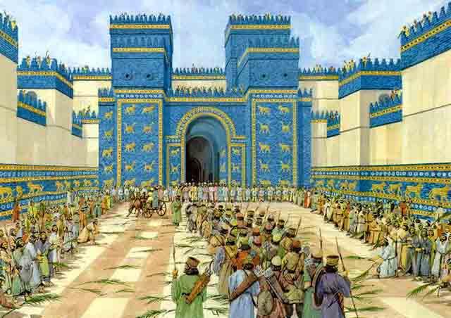 Чтобы войти в Вавилон, нужно было пройти через ворота Иштар