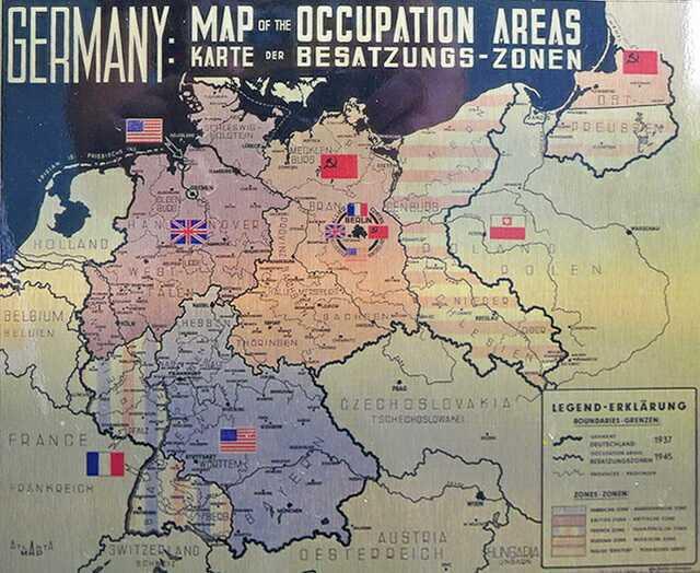 Карта зон оккупации Германии