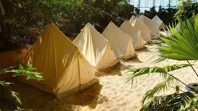 Можно переночевать в палатке