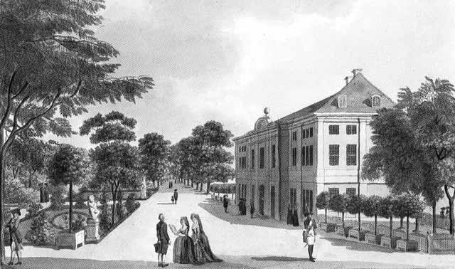 Шёнхаузен на гравюре XVIII века
