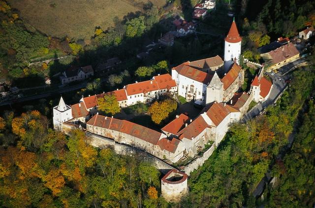Замок Кршивоклат вид сверху