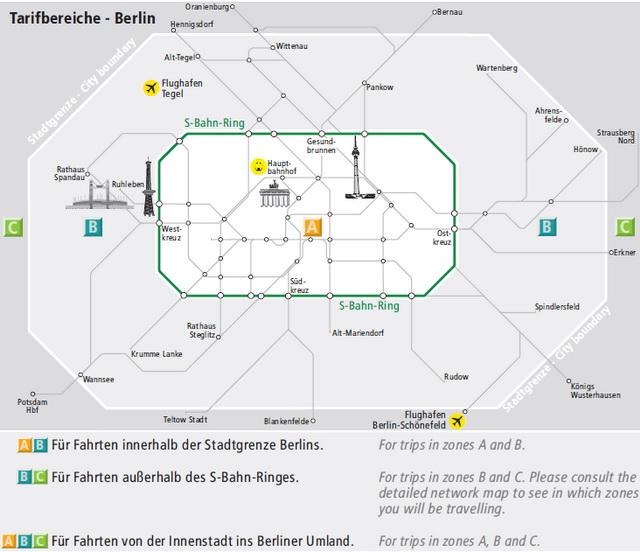 Карта Берлина по зонам