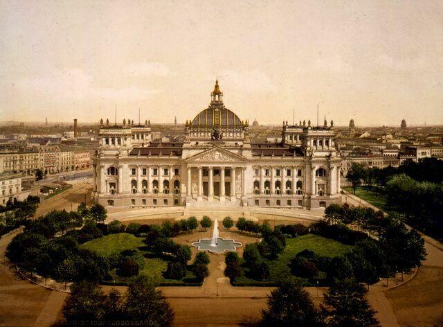 Рейхстаг на фотографии 1894 года