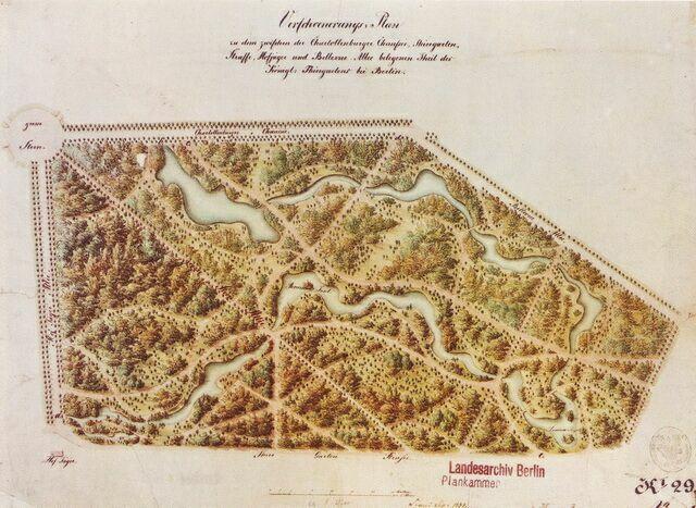 Тиргартен. План 1835 года.