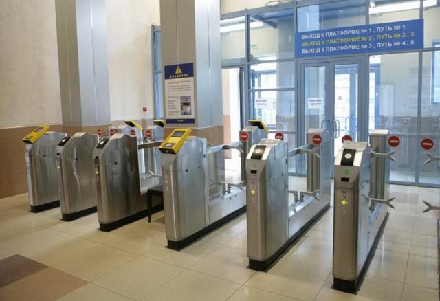 Российские турникеты на пригородные поезда