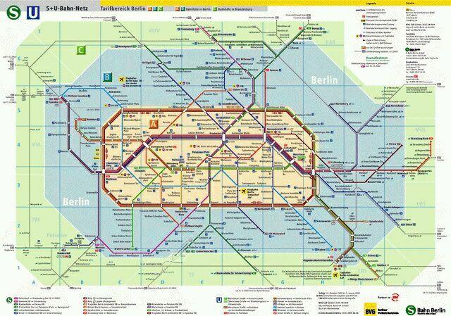 схема транспорта Берлина