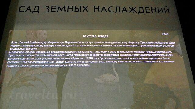 Братство лебедя - аннотация к фрагменту триптиха И. Босха