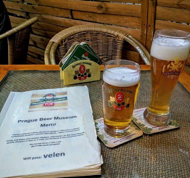 меню в музее пива
