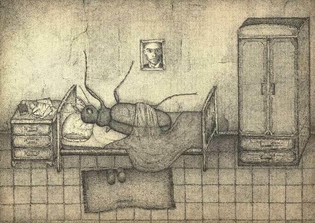 """Роберт Хасанов иллюстрация к рассказу """"Превращение"""""""