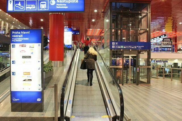 Указатели вокзал в Праге