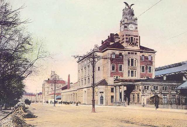 Жд вокзал в Праге старинная фотография