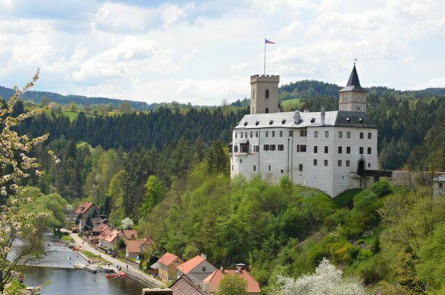 Замок Рожмберк в Чехии