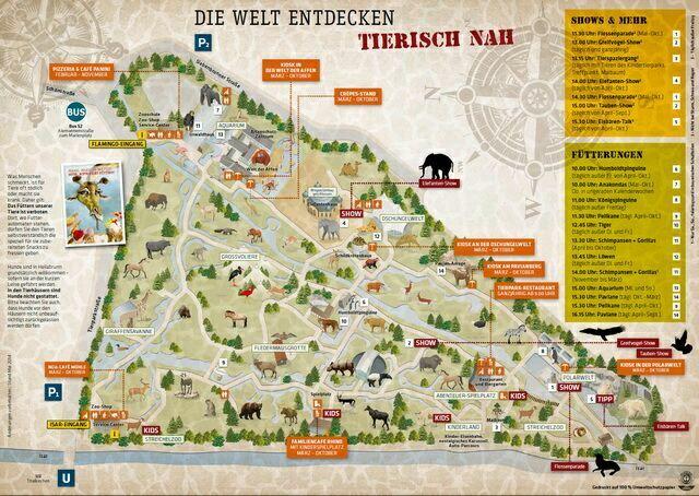 территория зоопарка Мюнхена