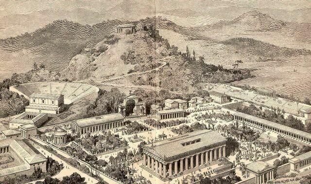 Древняя Олимпия реконструкция