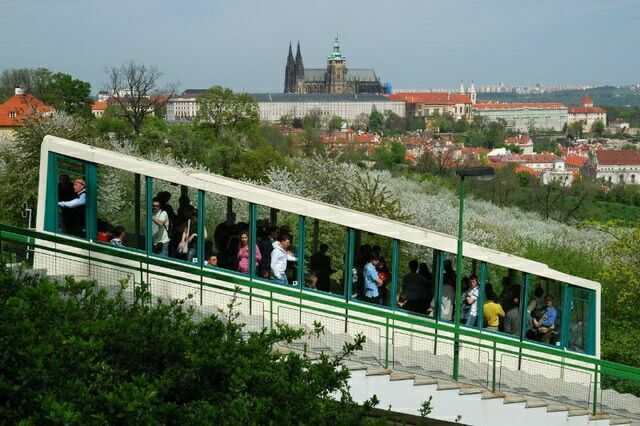 Фуникулер в Праге 4