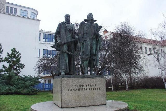 Памятник астрономам Тихо Бране и Иоганну Кеплеру