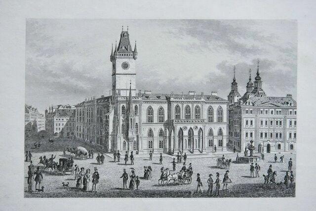 Ратуша в 1860 году