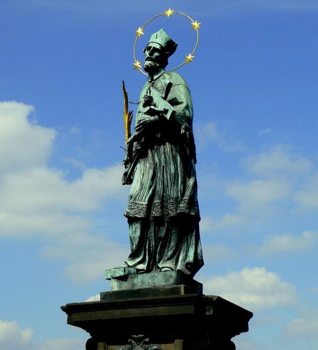 Скульптурное изображение Яна Непомуцкого