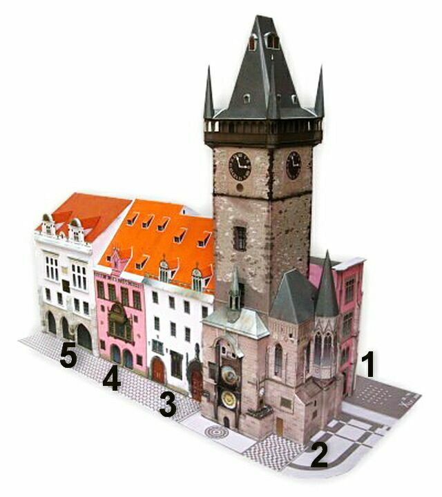 Староместская ратуша с обозначениями