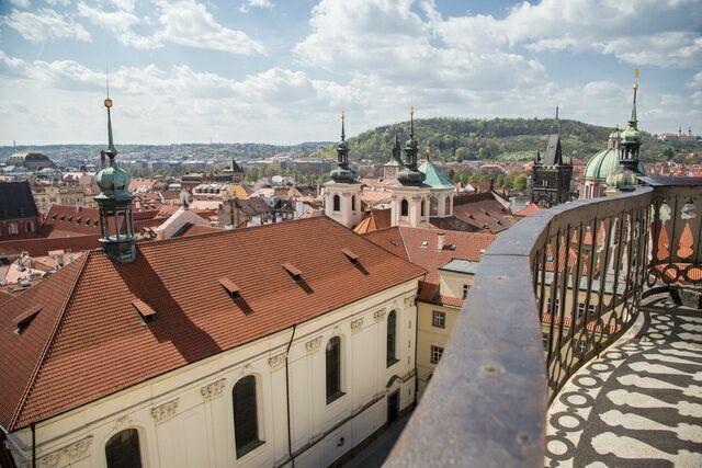 Вид на Прагу с астрономической башни 1