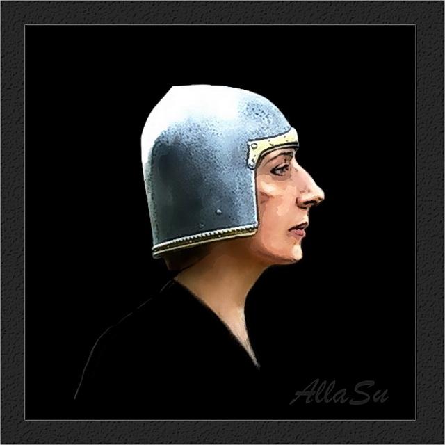 Автопортрет в пыцарском шлеме