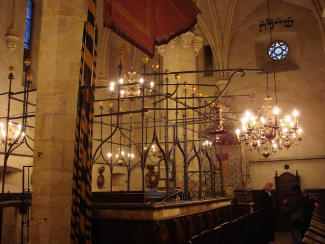 Интерьер Староновая синагога