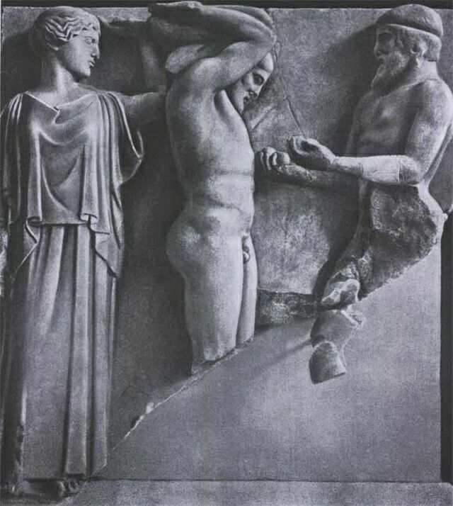 Метопа Геракл в саду Гесперид