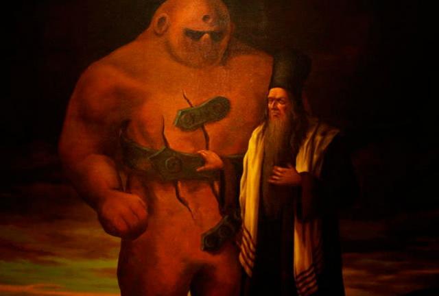 Равви Лева и Голем, фантазия художника