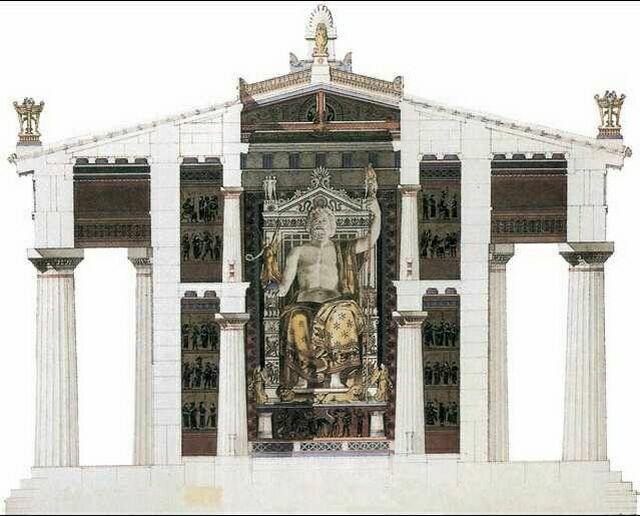 Реконструкция статуи Зевса