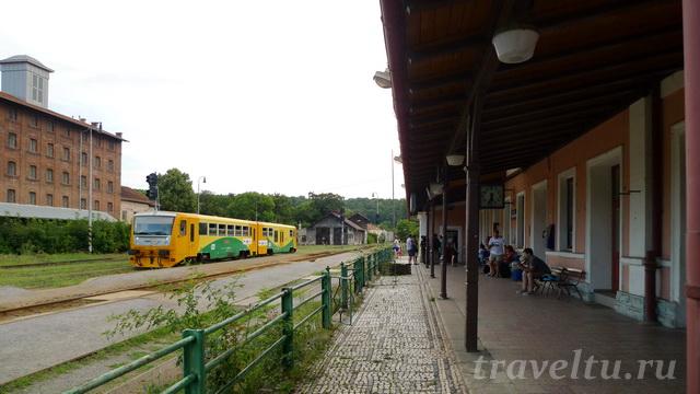 Станция Kutná Hora město в центре города