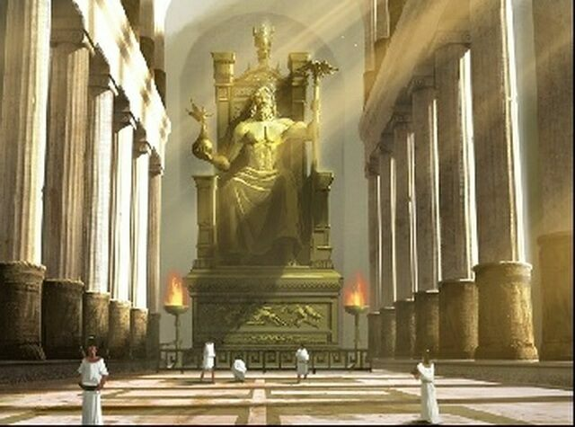 Статуя Зевса в храме Зевса