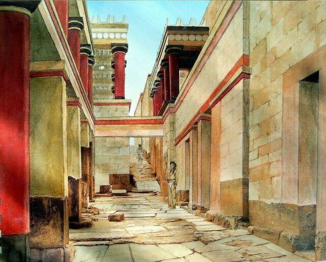 Так выглядел Северный вход в Кносский дворец