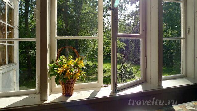 Вид из окна главного дома